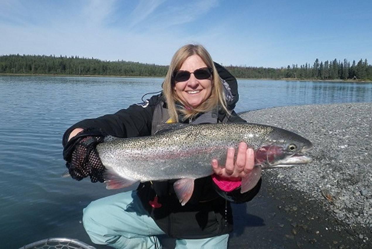 Huge rainbow trout eric loomis fishing alaska kenai for Rainbow trout fishing