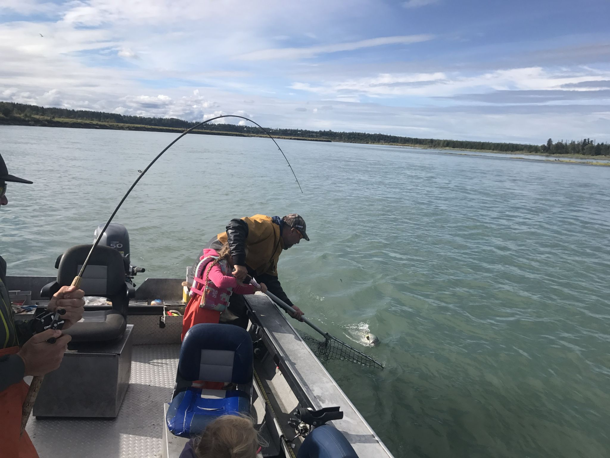 Eric Netting a Silver Salmon