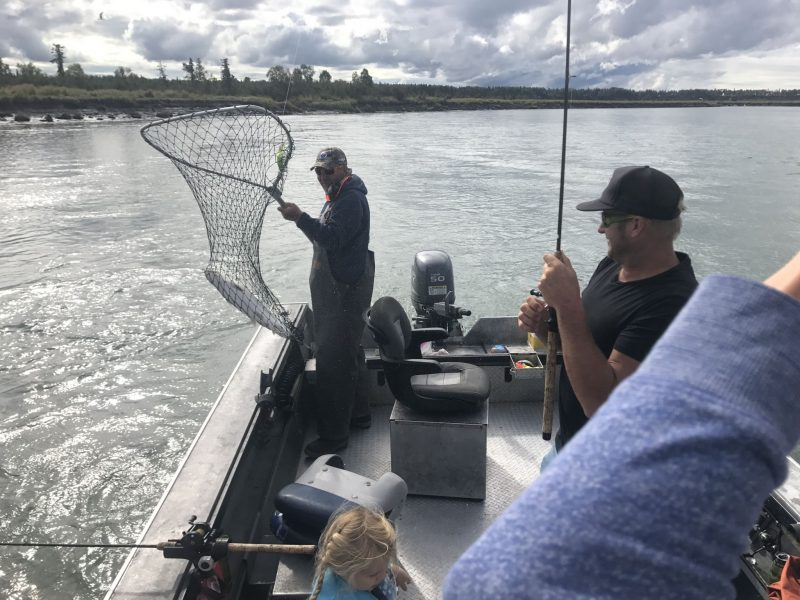 Eric with a Kenai Silver in the Net
